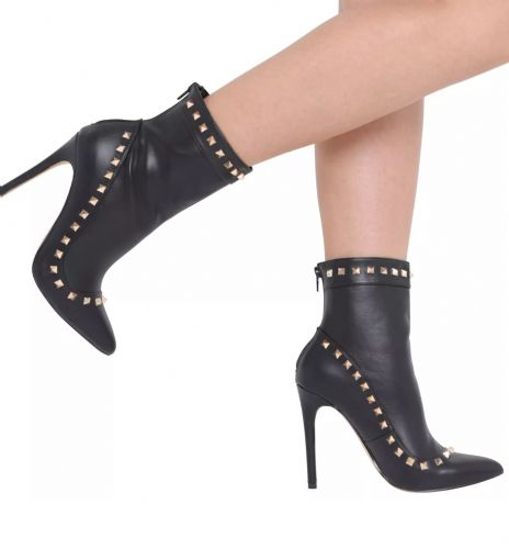 Stiletto Ankle Studded Boots